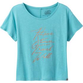 Prana Chez Camiseta Manga Corta Mujer, Turquesa